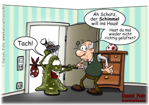 Nicht gelüftet, Cartoon von Daniel Fuhr